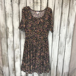 Lularoe Nicole dress multicolored SZ XL Geo Print